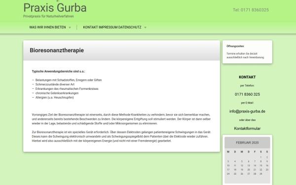 Webseiten Praxis Gurba